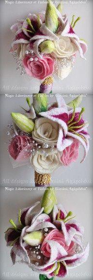 Felt loveliness a bouquet