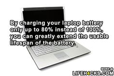 Tip For Charging Your Laptop - #Battery, #Laptop, #LifeHack, #Tip