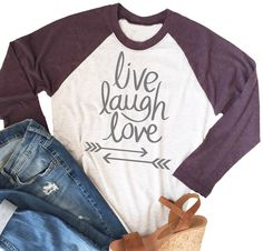 Super soft Raglan with Love! You will love these super soft raglans! Perfect for dressing up or to wear lounging around the house!​