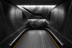 Selected photographs of the Montreal Metro Project by Christopher Forsyth. Chris Forsyth is a Montreal-based architecture photographer. Architecture Magazines, Space Architecture, Geometric Photography, Exploration, Architectural Photographers, Of Montreal, Wallpaper Magazine, Interior Design Magazine, Metro Station