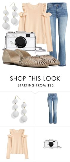 """Fergie Footwear: Sand Dune NICKEL d'Orsay Flats"" by jennmelby ❤ liked on Polyvore featuring BaubleBar and Kate Spade"