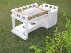 The Overlook Bed  A luxurious comfort bed for your by EndlessPaws, $200.00 Dog House Bed, House Beds, Niches, Dog Rooms, Dog Wear, Pet Furniture, Cairn Terrier, Homemade Dog, Cool Pets