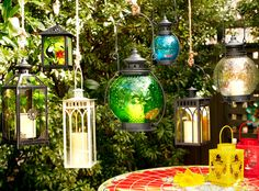 Bring ambience to the outdoors with some whimsical lanterns