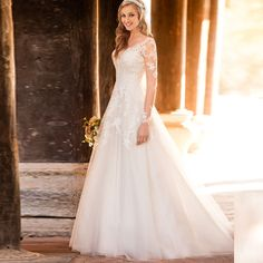 Find More Wedding Dresses Information about 2016 Sexy Full V Neck Lace A Line Wedding Dresses With Appliques Button Floor Length Plus Size Bridal Gowns Robe De Mariage W286,High Quality dresse,China dress styles for bigger women Suppliers, Cheap dresses forever from Juliana Wedding Dresses Store on Aliexpress.com