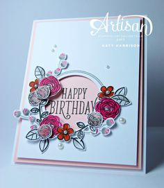 Hello, welcome to this weeks Artisan blog hop! Today we are sharing the 'Happy birthday Gorgeous' stamp set, it's part of the Foil fre...
