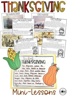 Interactive Thanksgiving Lessons and Writing. #thanksgivinglessons