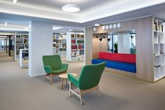 SLS - Snellmaninkatu 3krs. — KOKO3 Office Environment, Workplace Design, News Space, Contemporary, Modern, Finland, Furniture Design, Flooring, Bed