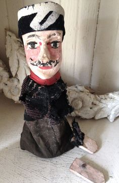 antique French toy theater puppet circa late by histoireancienne