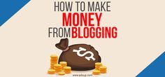 How To Make Money Blogging – 10 Step Solution  I will give you a list of the top 10 resources later that I use and recommend to everyone who is serious about making lots of money online.