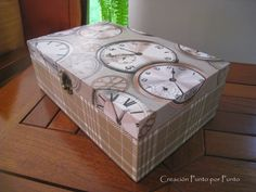 Decoupage en madera-cajas