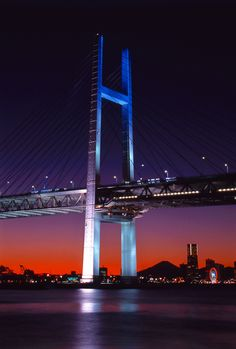 Yokohama Bay Bridge, Japan-  love this view almost as much as I love the Coronado Bridge in SAN.