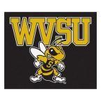 Ncaa West Virginia State University Black 5 ft. x 6 ft. Area Rug