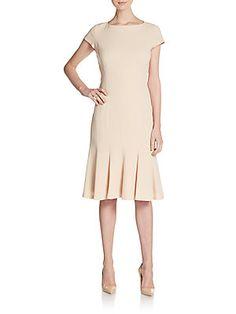 Edwina Pleated Shift Dress