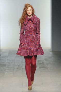 Jessica Costelloe on the catwalk of London Fashion Week