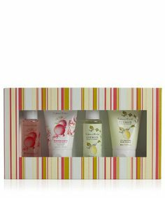 Crabtree & Evelyn Pomegranate & Citron Gel/Lotion Sampler 4 x 50ml by Crabtree & Evelyn. $18.00. Experience fresh-scented skin at its exquisite best with our skin-indulgent pairing of zesty Citron, Honey & Coriander and tartly sweet Pomegranate, Argan & Grapeseed. These Bath & Shower Gels gently cleanse and condition, while our Body Lotions help lock moisture into the skin.