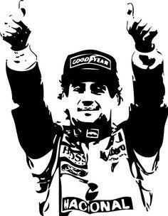 Sticker Ayrton Senna - 57x74 cm - 22,99 €