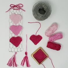 """It's the time of the year where it's cold outside and warm, pink, and red everywhere else. Valentine's Day is approaching! While it's still about a month to go, this is the time to start crafting for it!In this blog we will take a look at """"shaping fabric"""". Bias fabric can be tricky to understand, but if we master its properties, we can put those special features to work and make beautiful things … like hearts! Lucet, Heart Wall, Wired Ribbon, Finger Weights, Loom, Beautiful Things, Heart Shapes, Things That Bounce, Turtle"""