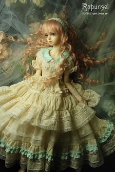 Um. Not so crazy about this doll. But the dress is wow.