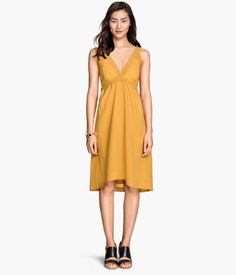 Sleeveless Cotton Dress | H&M US