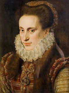 Portrait of a Woman  (said to be Lady Elizabeth Fitzgerald, 1528?–1589, 'Fair Geraldine', wife of Edward Clinton)  by Lucas de Heere  (attributed to)       Date painted: 1573