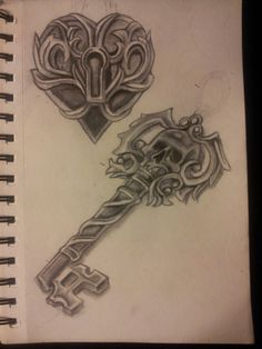 Locked Heart And Skeleton Key by ~organicmoon on deviantART