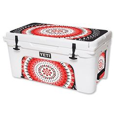 MightySkins Protective Vinyl Skin Decal for YETI Tundra 65 qt Cooler wrap cover sticker skins Red Aztec * You can find out more details at the link of the image.(This is an Amazon affiliate link and I receive a commission for the sales)