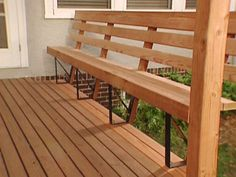 Go ahead and browse through our gallery, get inspired, pin and save the deck patio designs for small yards you like best! Our team has found some great examples of deck patio designs for small yards which we would like to share. Deck Bench Seating, Yard Benches, Built In Seating, Patio Bench, Built In Bench, Wood Patio, Garden Seating, Deck Storage Bench, Bar Bench