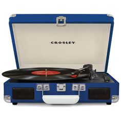 Crosley Cruiser 3 Speed Portable Turntable Record Player Orange Vinyl in Consumer Electronics, TV, Video & Home Audio, Home Audio Stereos, Components Crosley Record Player, Portable Record Player, Vinyl Record Player, Record Players, Vinyl Records, Juno Records, Radios, Pretty In Pink, Cassette