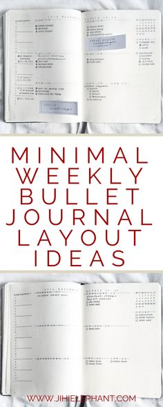 30 Minimal Weekly Bullet Journal Layout Ideas