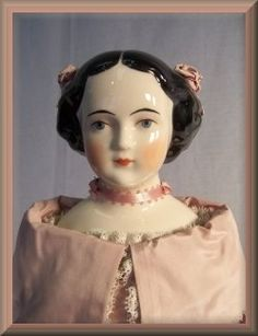 Jenny Lind made by Lippert & Haas, Bohemia, 18 Chinas & Parians are shoulder-head doll