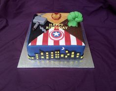 - The Avengers cake
