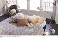 Beddinghouse Ivory is een collectie die uitgaat van een rustieke en chic, sobere sfeer.  #slaapkamer