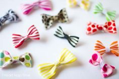 "Simple and cute hair bow tutorial from iheartnaptime.net-- gotta make some tiny versions of these for Evy's ""poof"". :)"