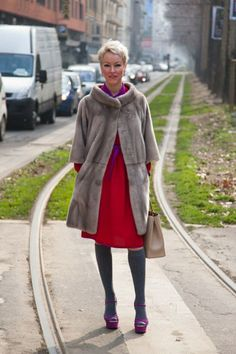 Photos: Photos: Best-Dressed Street Style at Milan Fashion Week Fall 2013 | Vanity Fair Frankly it is all in the coat!  The cut and design are classic.  The color so wearable. Do I hear 2 because it would be a good idea?