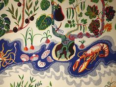 "620 Likes, 8 Comments - Guardian Cook (@guardian_cook) on Instagram: ""'Italian Dinner' textile design by Josef Frank for @svenskttenn.  Great exhibition of textile…"""