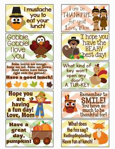 Thanksgiving lunchbox note for kid Kids Lunch For School, School Snacks, School Days, Whats For Lunch, Lunch To Go, Lunch Time, Toddler Meals, Kids Meals, Lunch Snacks