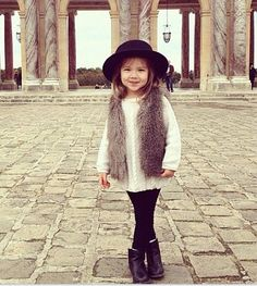 We'd totally wear this little girl's chic outfit.