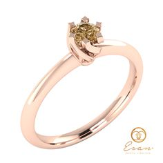 Inel de logodna solitaire cu diamant maro ES1 Aur, Engagement Rings, Jewelry, Fashion, Enagement Rings, Moda, Wedding Rings, Jewlery, Jewerly