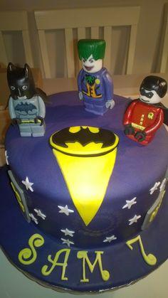 Batman Lego birthday cake