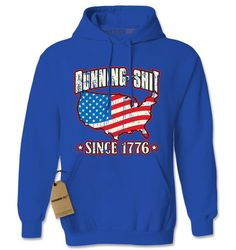 Hoodie America Hooded Jacket Sweatshirt Running from $24.99 at xpressiontees.etsy.com   #ExpressionTees