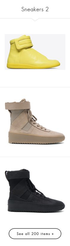 """""""Sneakers 2"""" by efiaeemnxo ❤ liked on Polyvore featuring men's fashion, men's shoes, men's sneakers, yellow, mens high top sneakers, maison margiela men's shoes, yellow mens shoes, maison margiela men's sneakers, mens high top shoes and shoes"""