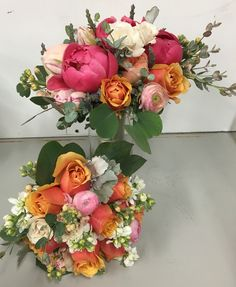 Spring bridal bouquet with peonies, garden roses, ranunculus, spray roses and more! #exoticgreengarden