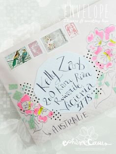 Happy mail project, pretty use of washi tape!