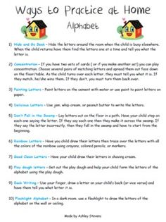Make practicing the Alphabet fun with all these cute ideas for parents. Notes To Parents, Letter To Parents, Parents As Teachers, Parent Letters, Preschool Literacy, Preschool Letters, Preschool Lessons, Literacy Activities, Parent Teacher Communication