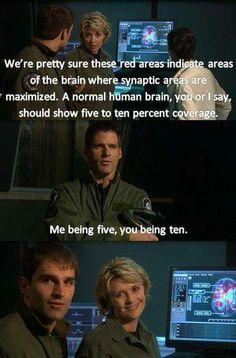 Samantha Carter probably uses WAY MORE than 10%!  Stargate SG-1