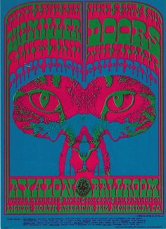 6/1-4/ 1967 ..... Avalon Ballroom ..... The Doors ..... Miller Blues Band ....  Daily Flash ...... artist .... VICTOR MOSCOSO
