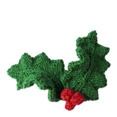 holly leaves with berries | oddknit.com