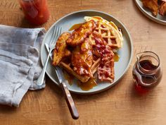 Chicken and Bacon Waffles Recipe : Food Network Kitchens : Food Network - FoodNetwork.com