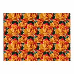 Kess InHouse Sylvia Coomes Pink and Yellow Flower Blush Floral Memory Foam Bath Mat 17 X 24 17 by 24-Inch