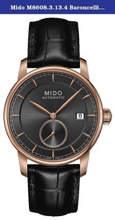 75b618cc3c1d Mido M8608.3.13.4 Baroncelli mens M86083134 Swiss watch Automatic Movement.  Rose gold